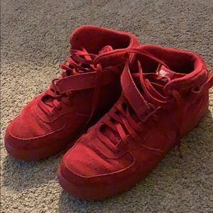 High Top Red Nike Air